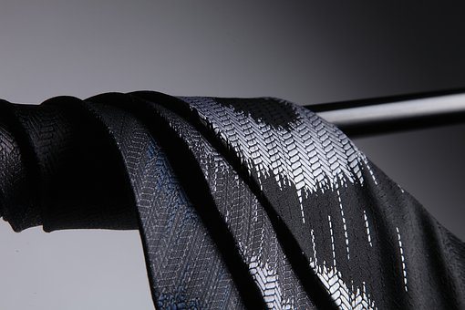 Tie, The Darkened, Silk, Pole, Light And Shadow
