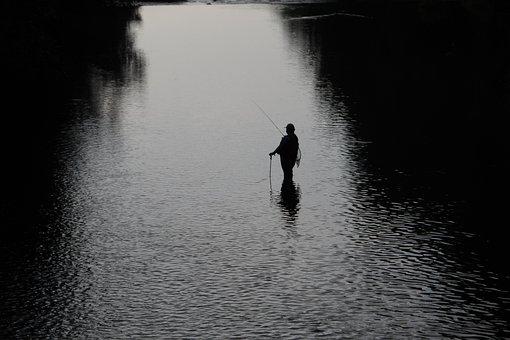 Poland, The Fisherman, Retreat, Mountains, Water, River