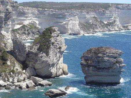 Bonifacio, Strait Of Bonifacio, Corsica, Sea
