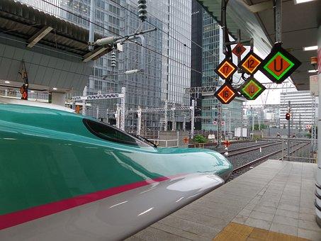Japan, Shinkansen, Hayabusa, Train, Station