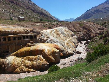 Des Inca Bridge, Aconcagua, Nature, Mountain, Sulphur