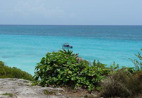 Mexico, Yucatan, Boat, Sea, Summer, Sailing