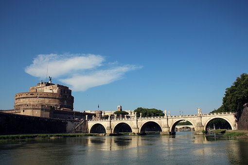 Rome, Castle, River, Castel Sant'angelo, Tourism, Tiber