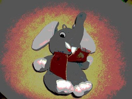 Toy, Plush, Baby, Too Cute, Elephant