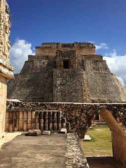 Maya, Pyramid, Uxmal, Mexico, Architecture, Yucatan