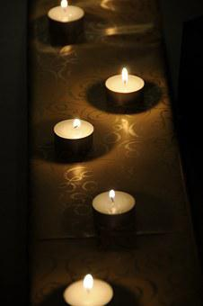 Tea Lights, Gift, Candles, Packaging, White, Fire