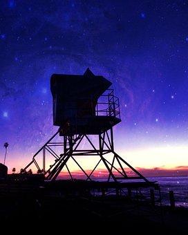 San Diego, Lifeguard, Beach, Ocean, Sea, California