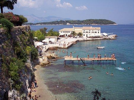 Corfu, Greece, Greek, Island, Beach, Sea, Kerkyra
