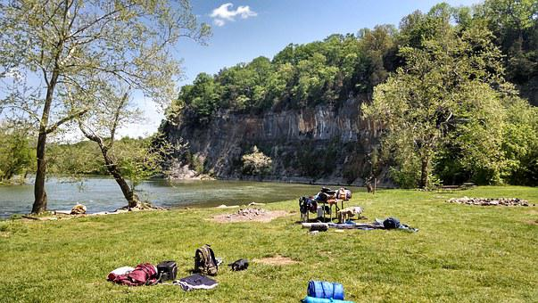 West Virginia, Campsite, Blackwater Falls