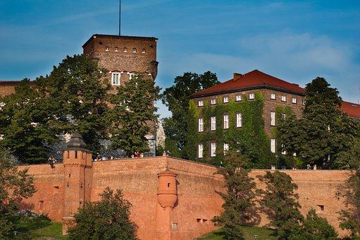 Kraków, Wawel, Castle, Monument, Lake Dusia, Buildings