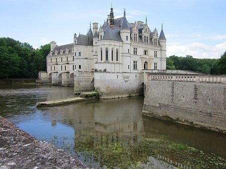 Château De Chenonceau, Gothic, Renaissance, Cher River