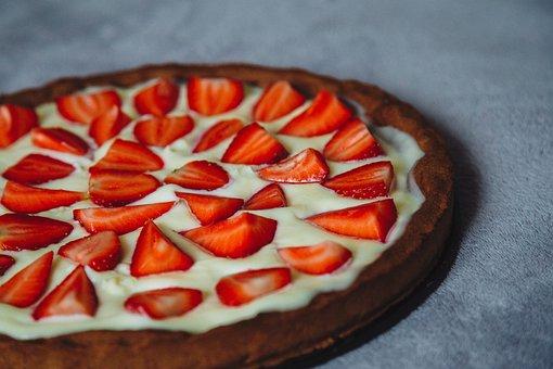 Tart, Strawberry, Cream Pie, Cheese Cake, Cake, Dessert