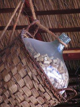 Bottle, Demijohn, Wicker, Decoration, Hay, Basket