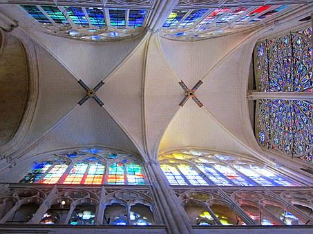 St Gatien Cathedral, Gothic, Ceiling, Rose Window