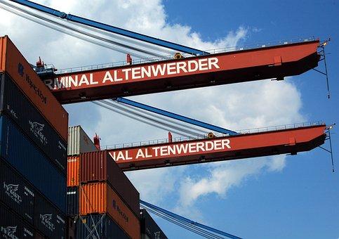 Hamburg, Port, Terminal, Hamburg Port, Landungsbrücken