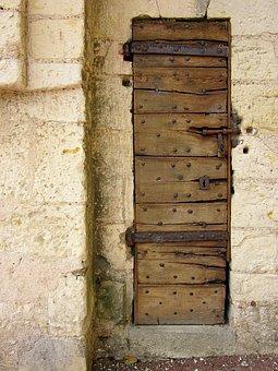 Door, Montrésor, Fortress, Old, Indre-et-loire, France