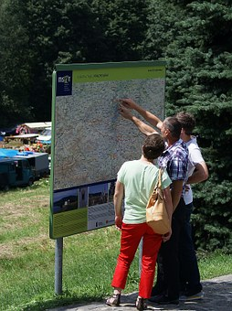 Map, Information, Information Board, Tourism, Curiosity