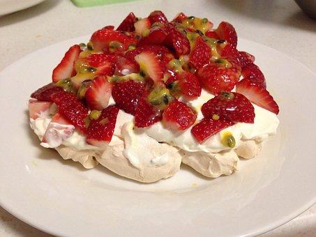 Strawberry Dessert, Passion Fruit, Ice, Chantilly