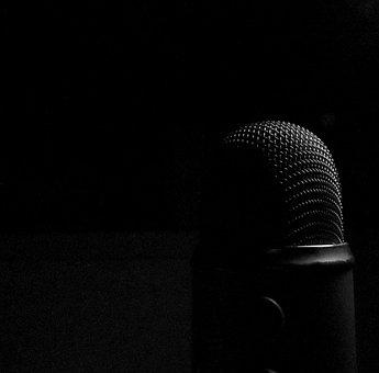 Microphone, Dark, Audio, Micro, Recording, Sound