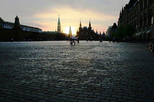 Red Square, Paving, Vast, Flat, Plaza, Public Place