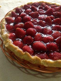 Strawberry Pie, Sweetie, Delicious Cake, Snack, Desert