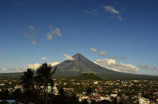 Volcano, Mayon, Philippines, Nature, Mountain, Asia