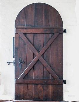 Old Door, Wood, Fitting, Solid, Inside, Ornament