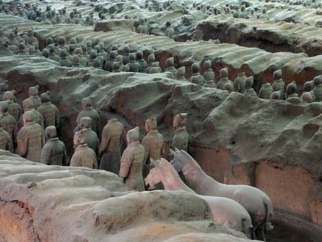 China, Xian, X'ian, Soldiers, Army, Terracotta, Qin