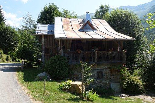 Mountain, Chalet, Alps, Rustic, Hautes Alpes, Facade