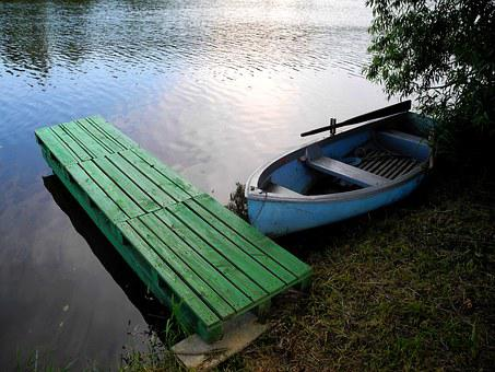 Boat, Pier, Water, Rowboat, Pond, Edge Of The Pond