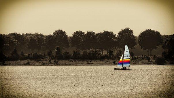 Sail, Lake, Water, Wind, Sepia, Sailing Boat, Boat