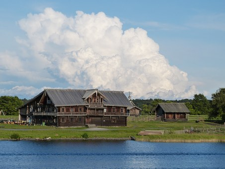 Farmhouse, Russia, Farm, Wood, Bar, Building