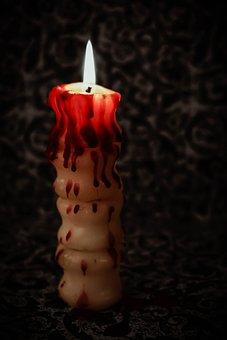 Candle, Eddy, Spine, Light, Dark, Atmosphere, Wax, Burn