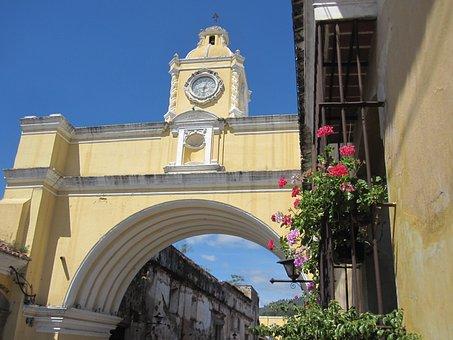 Guatemala, Antigua, America, Central, Architecture