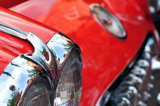 Chevrolet Corvette, Corvette, Red, Coupe, Detroit