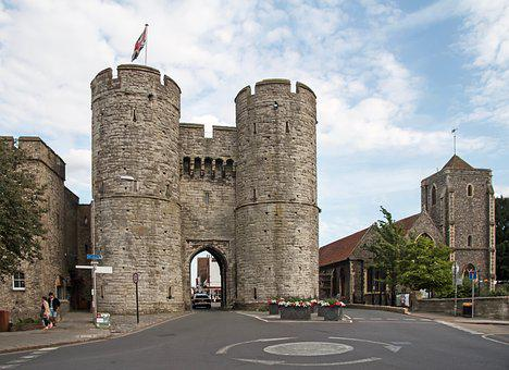 West Gate, City Gate, Canterbury, England