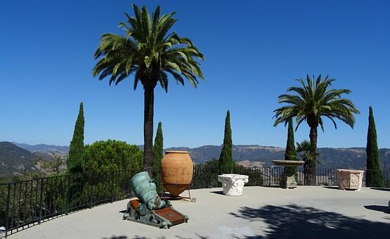 Antique, Piece, Exhibit, Hearst Castle, Castle, Palm