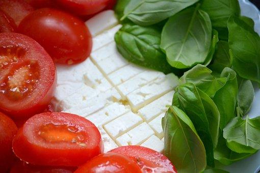 Tomato, Basil, Healthy, Fresh, Feta Cheese, Italian