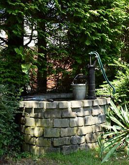 Pump, Fountain, Garden Pump, Hand Pump, Water, Garden