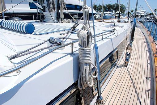 Sailing Yacht, Starboard, Rigging, Gear, Teak, Deck