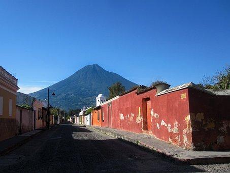 Antigua, Guatemala, America, Central, Latin, Street