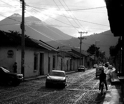 Antigua, Guatemala, Central America, Travel, Street