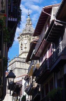 Saint-sébastien, Guipuzcoa, Donostia, Cathedral, Street