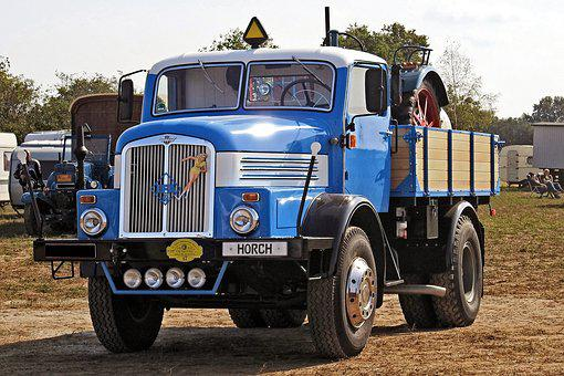 Truck, Old, Historically, Oldtimer, H6z, Horch, Ddr
