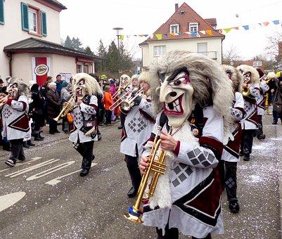 Shrove Monday, Strassenfasnet, Lacrosse, Giant Mask