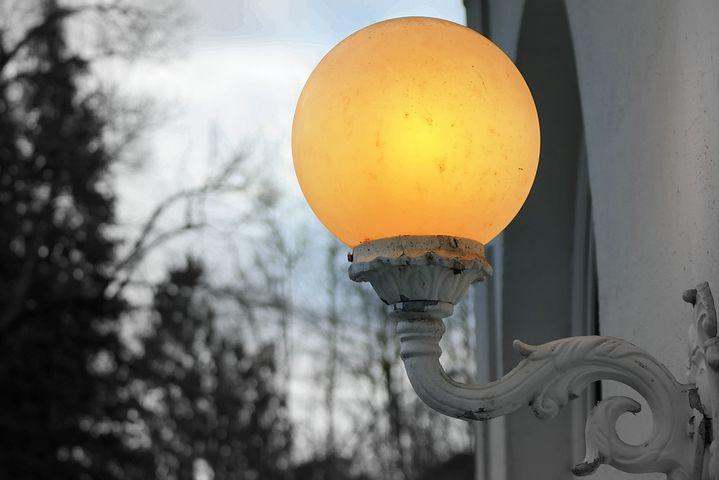 Lamp, Light, Wall, Evening, Bright, Outdoor Lighting