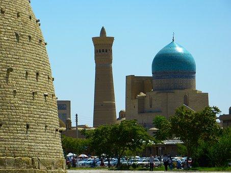 Castle Wall, Ark, City View, Minaret, Dome