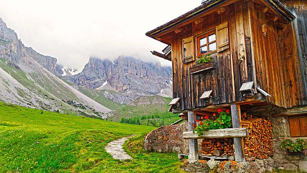 Mountain Lodge, Lodge, Refuge, Mountain Chalet