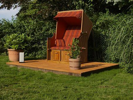 Beach Chair, Brown, Recover, Garden, Rest, Recovery