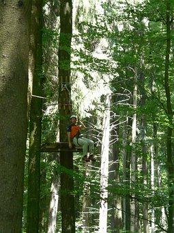 High Ropes Course, Rope Slide, Rope Bridge, Climb, Drex